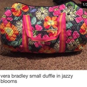 Vera Bradley small round duffle in jazzy blooms